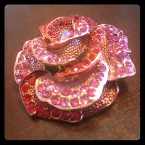 Pink and Red Rose Pin/Brooche